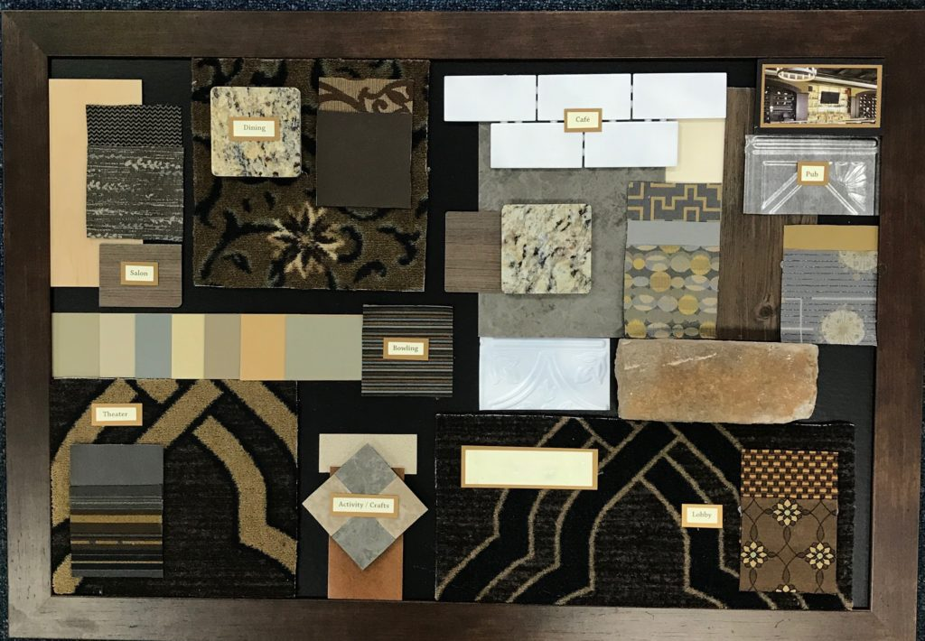 Senior Living design board, Tool: Design Boards